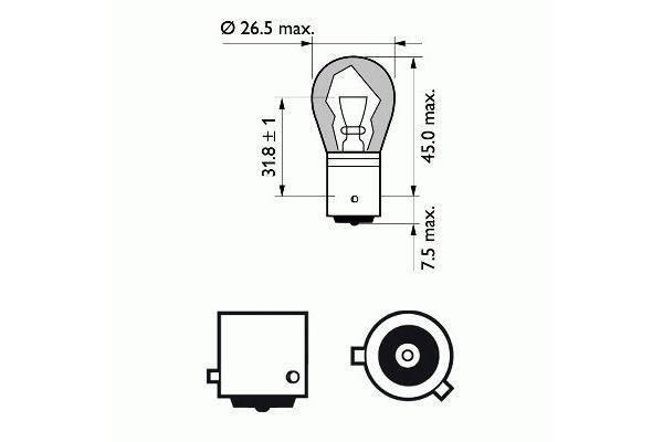 PHILIPS - Gloeilamp knipperlicht - 12496SVS2