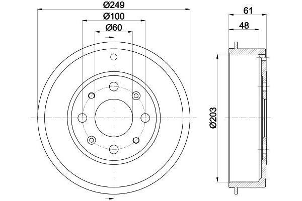 Remsysteem / Remschoenen en Trommels Fiat Punto Evo (199