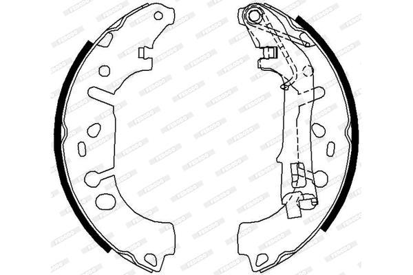 Remsysteem / Remschoenen en Trommels Fiat Grande Punto