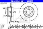 ATE - Remschijf - 24.0111-0130.1