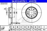 ATE - Remschijf - 24.0112-0170.1