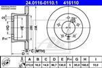 ATE - Remschijf - 24.0116-0110.1