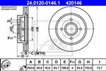 ATE - Remschijf - 24.0120-0146.1