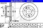 ATE - Remschijf - 24.0122-0161.1