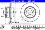 ATE - Remschijf - 24.0122-0181.1