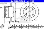 ATE - Remschijf - 24.0122-0196.1