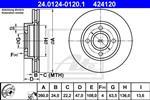 ATE - Remschijf - 24.0124-0120.1