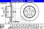 ATE - Remschijf - 24.0124-0702.1