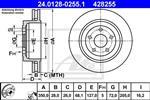 ATE - Remschijf - 24.0128-0255.1