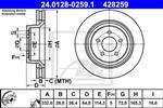 ATE - Remschijf - 24.0128-0259.1