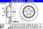 ATE - Remschijf - 24.0128-0270.1