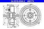 ATE - Remtrommel - 24.0218-0044.2