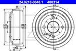 ATE - Remtrommel - 24.0218-0048.1